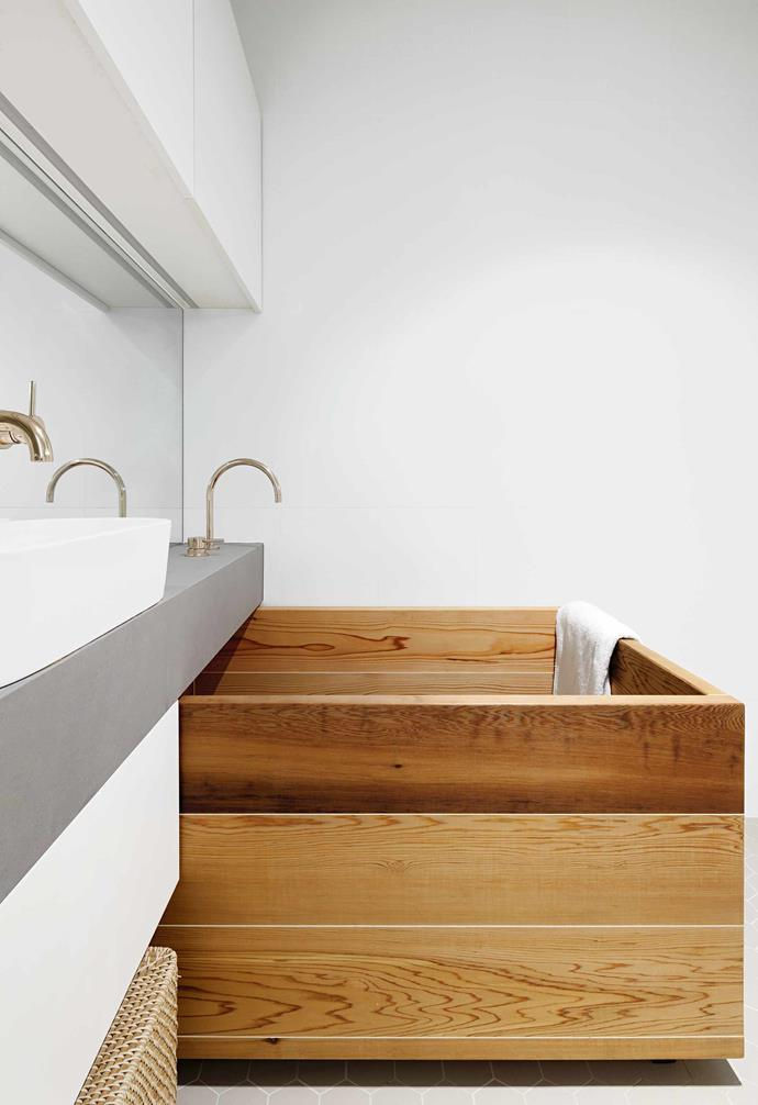 """**Bathtub** A wooden bathtub, from [The Japanese Bath Company](https://www.japanesebath.com.au/