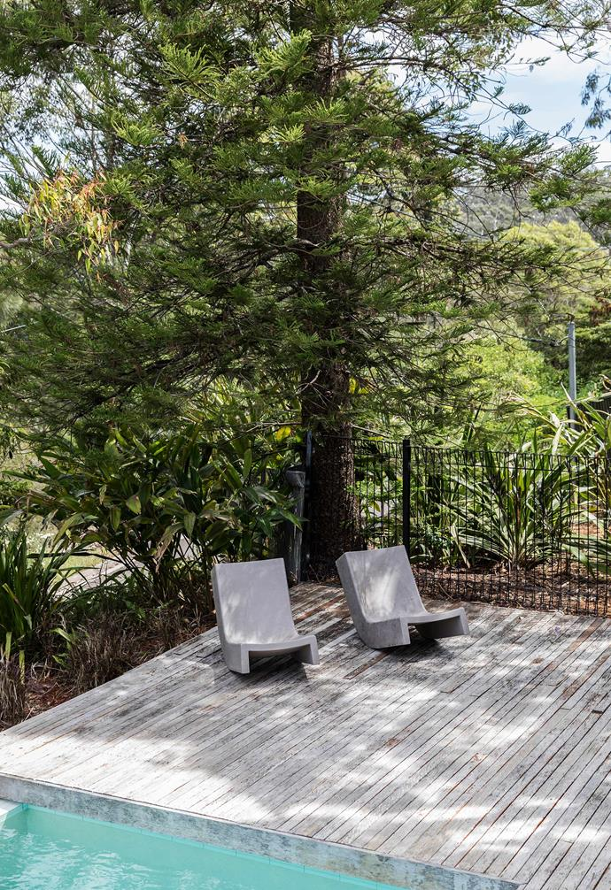 An unstained ironbark pool deck like this will grey off naturally over time.
