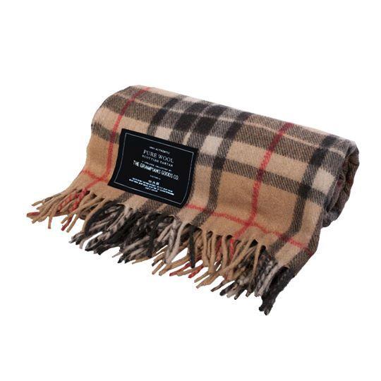 "Heritage Collection Recycled Wool Scottish Tartan Blanket, $179, [The Grampian Goods Co.](https://grampiansgoodsco.com.au/product/heritage-collection-recycled-wool-scottish-tartan-blankets-camel/|target=""_blank""|rel=""nofollow"")"