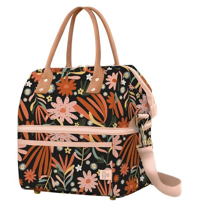 """Auburn Nights Cooler Bag, $89.95, [The Somewhere Co.](https://thesomewhereco.com/collections/picnic-days/products/auburn-nights-cooler-bag