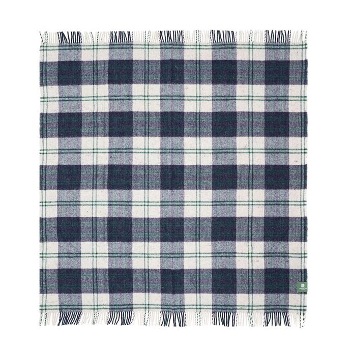 """Recycled Travel-Picnic Rug in Navy/Forest, $229, [Waverly Mills](https://waverleymills.com/products/recycled-travel-rug-navy-forest