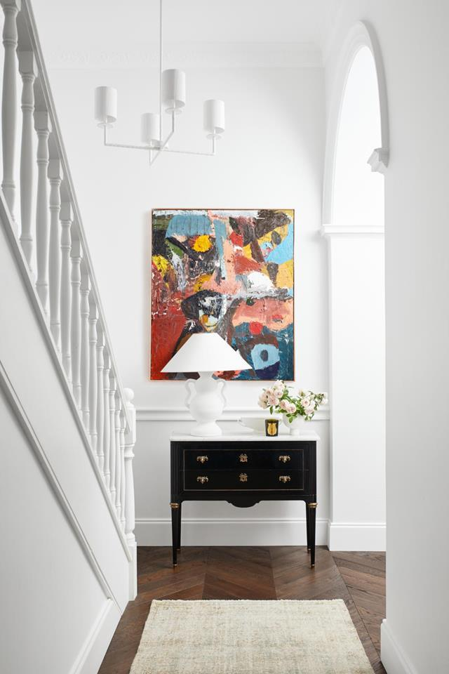 Make a lasting impression in your homes' entryway with a statement artwork.