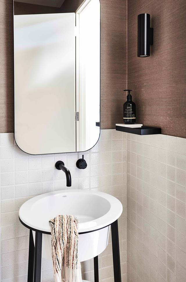 **Round it out.** Sharp edges aren't the most friendly in tight spaces. Opt for softer finishes in a rounded wall basin or curved bath. They'll feel less intrusive and will help you avoid any painful middle-of-the-night bumps.
