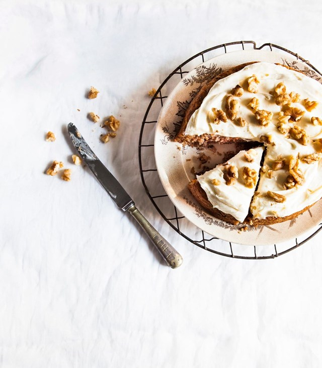 """**[GRANDMA BETTY'S CARROT AND PINEAPPLE CAKE](https://www.homestolove.com.au/carrot-pineapple-cake-21781