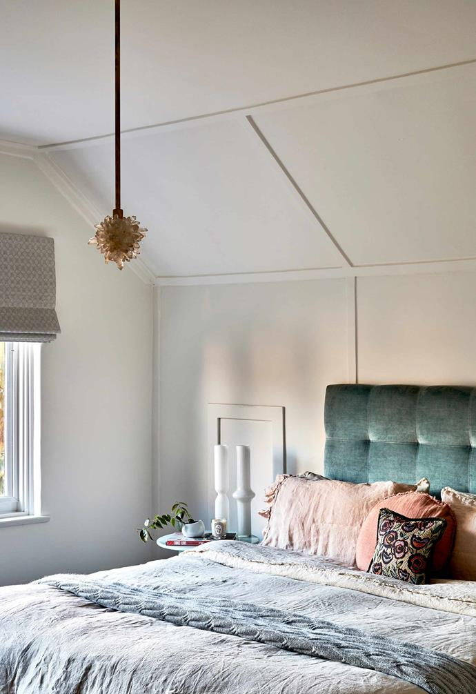 """**Bedroom** A custom bedhead from [Heatherly Design](https://heatherlydesign.com.au/