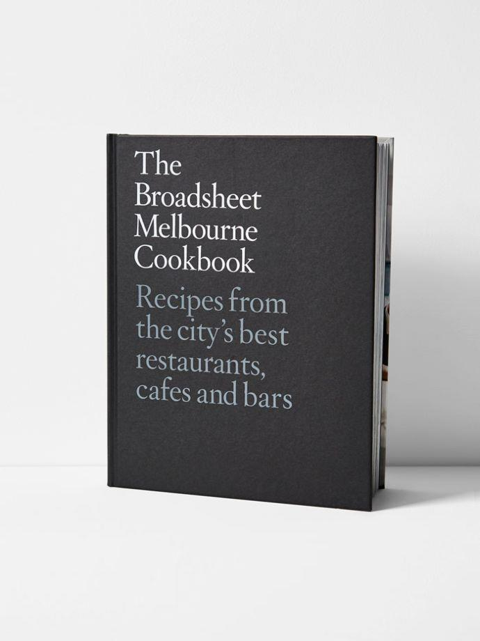 "The Broadsheet Melbourne Cookbook By Broadsheet, $49.95, [Aura Home](https://www.aurahome.com.au/the-broadsheet-melbourne-cookbook|target=""_blank""|rel=""nofollow"")"
