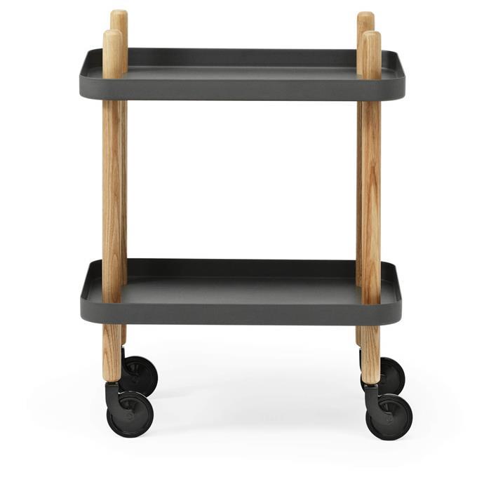 "Normann Copenhagen Block Table Trolley in Dark Grey, $358.75, [Coggles](https://www.coggles.com/kitchen-and-dining-furniture/normann-copenhagen-block-table-trolley-dark-grey/11755591.html|target=""_blank""|rel=""nofollow"")"