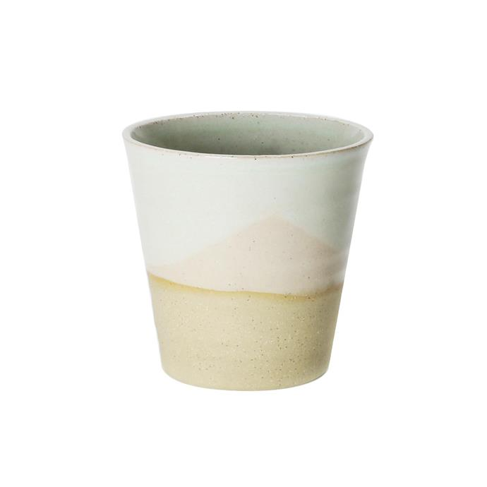 """Landscape Carousel Cup in Eyre, $37.95, [Robert Gordon](https://www.robertgordonaustralia.com/collections/australian-made-mugs/products/sml-carousel-cup-225ml-landscape?variant=22679357685878