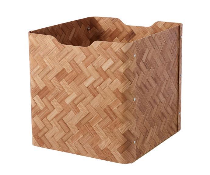 BULLIG bamboo box, $25, [IKEA](https://www.ikea.com/au/en/p/bullig-box-bamboo-brown-10474593/).