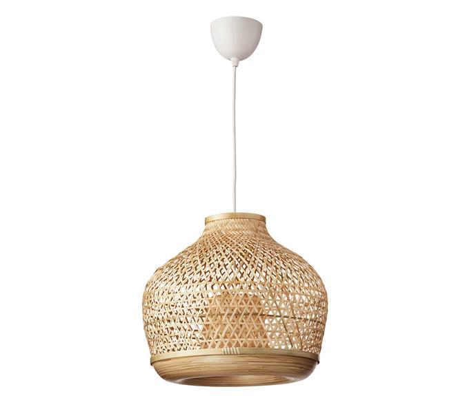 MISTERHULT pendant light, $119, [IKEA](https://www.ikea.com/au/en/p/misterhult-pendant-lamp-bamboo-70441019/).
