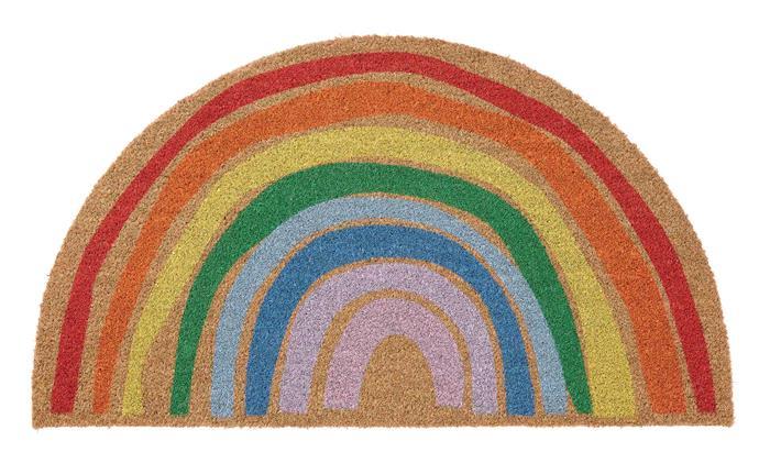 PILLEMARK door mat, $19.99, [IKEA](https://www.ikea.com/au/en/p/pillemark-door-mat-indoor-rainbow-50481011/).