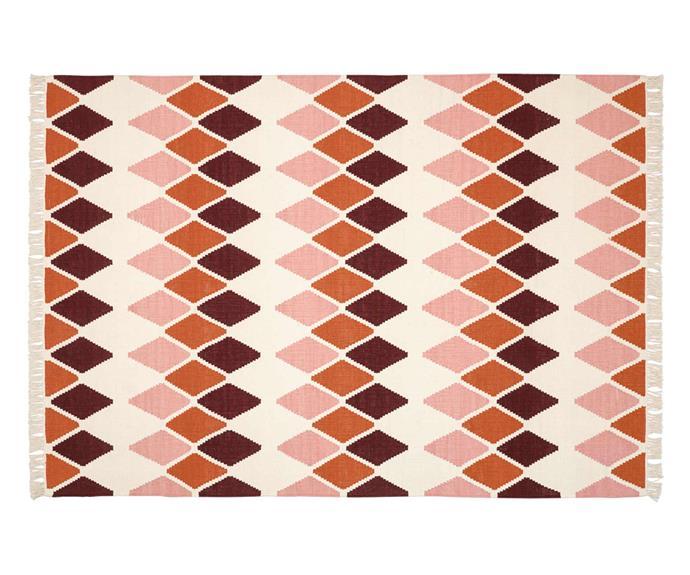 VETTERSLEV flatwoven rug, $179, [IKEA](https://www.ikea.com/au/en/p/vetterslev-rug-flatwoven-handmade-multicolour-30467407).