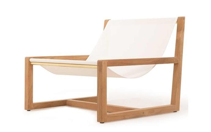 """Pairing effortless style with holly wood clamour, this sling chair is bound to have you feeling like you're nestled in Palm Springs. Hollywood wood chair, POA, [Harbour Outdoor](https://www.harbouroutdoor.com.au/hollywood-wood-chair/