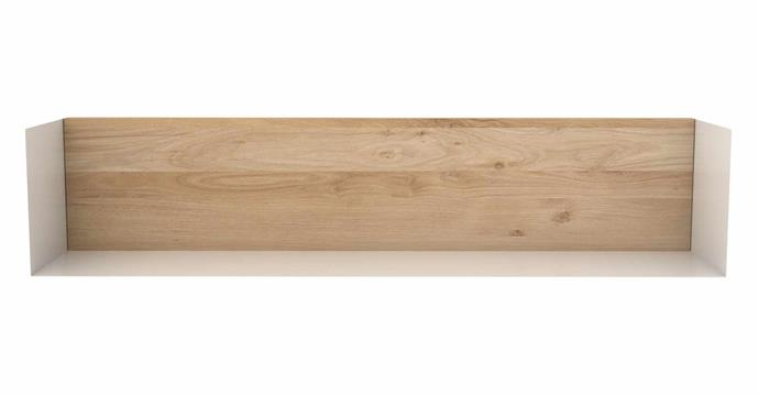 "Universo Positivo Ethnicraft 'U' oak wall shelf, $130, [Trit House](https://trithouse.com.au/|target=""_blank""