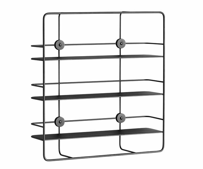 "Poiat x Woud 'Coupé Rectangle' metal wall shelf, $679, [Floc Studio](https://flocstudio.com.au/|target=""_blank""