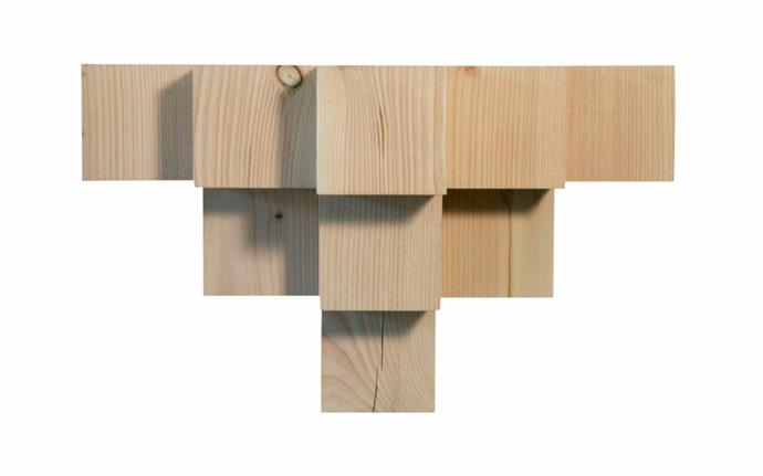 "'Corner' Douglas fir shelf, $1500, [Fenton & Fenton](https://www.fentonandfenton.com.au/|target=""_blank""|rel=""nofollow"")."