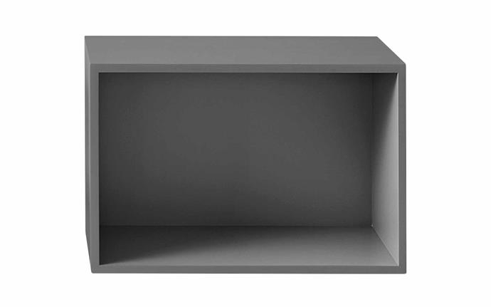 "Muuto 'Stacked Storage System 2.0' oak-veneer shelf in Grey, $325, [Living Edge](https://livingedge.com.au/|target=""_blank""