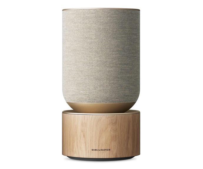 "Bang & Olufsen Beosound Balance Speaker with Google Assistant, $3500, [David Jones](https://www.davidjones.com/electrical/audio-and-speakers/wireless-speakers/23425234/Beosound-Balance-Speaker-with-Google-Assistant---Natural-Oak.html|target=""_blank""|rel=""nofollow"")."