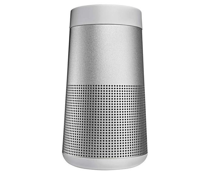 "Bose SoundLink Revolve Bluetooth Speaker, $299, [Myer](https://www.myer.com.au/p/bose-soundlink-revolve-bluetooth-speaker-silver|target=""_blank""|rel=""nofollow"")."