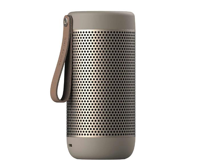 "Kreafunk Acoustic Bluetooth Speaker, $245, [Until](https://www.until.com.au/kreafunk-acoustic-bluetooth-speaker|target=""_blank""|rel=""nofollow"")."