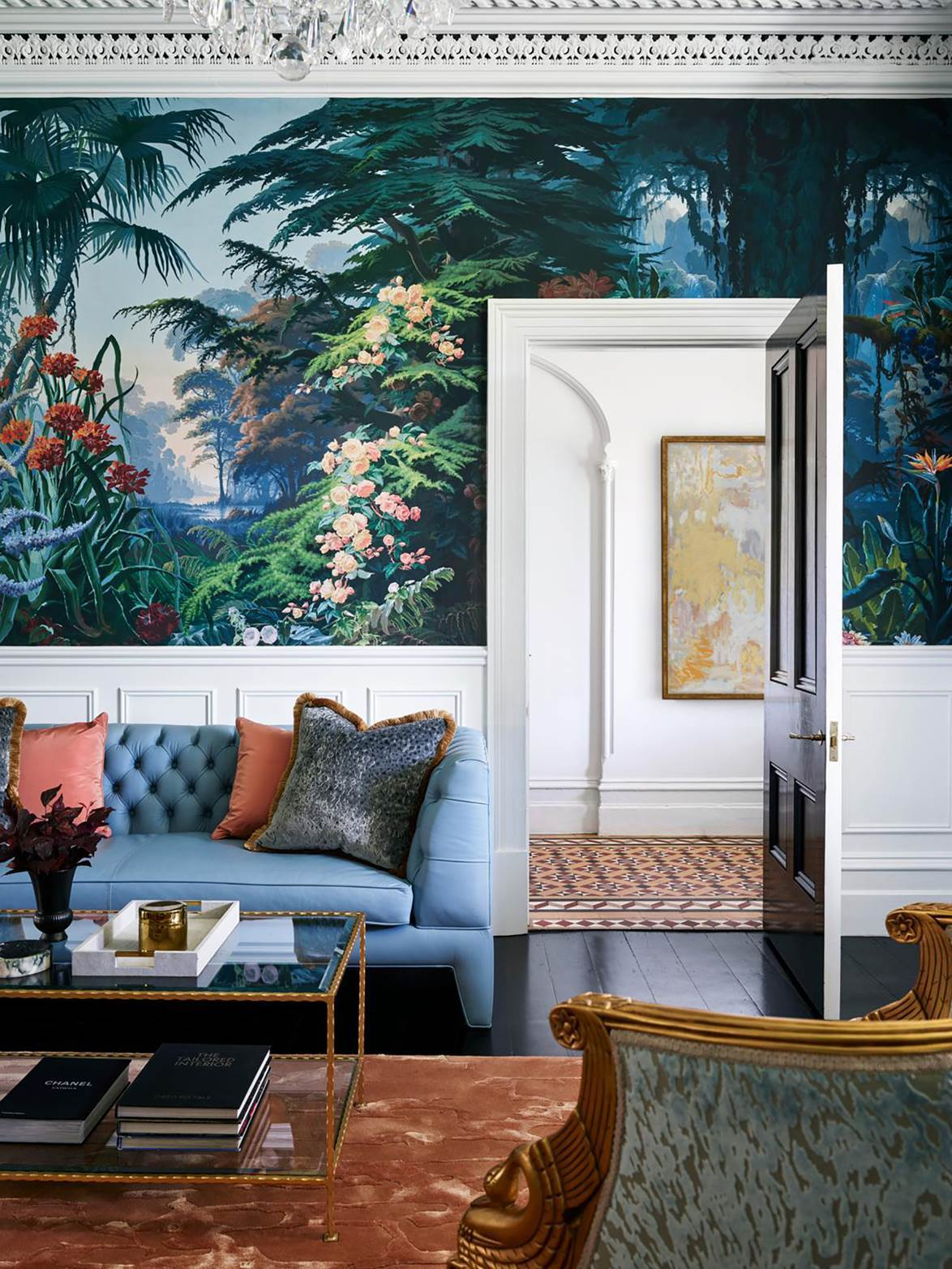 """Splendid vision from architect Daniel Boddam and interior designer Stacey Kouros for transformed a tired [1880s terrace](https://www.homestolove.com.au/glamorous-makeover-of1880s-terrace-21031