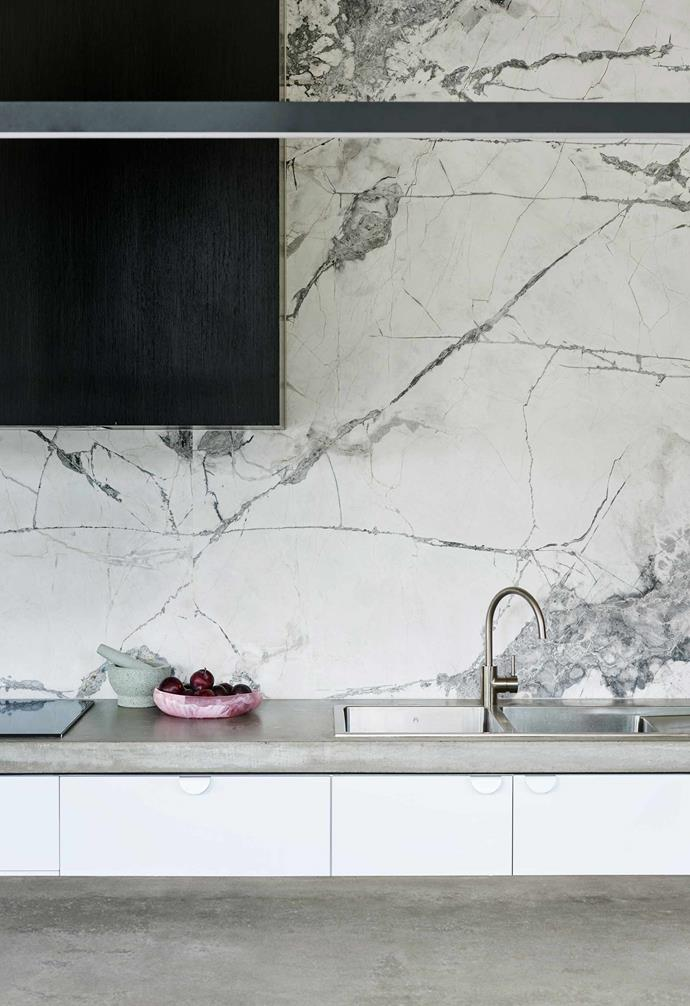 """**Kitchen** The Cote D'Azur marble splashback by [G-Lux](https://www.glux.com.au/