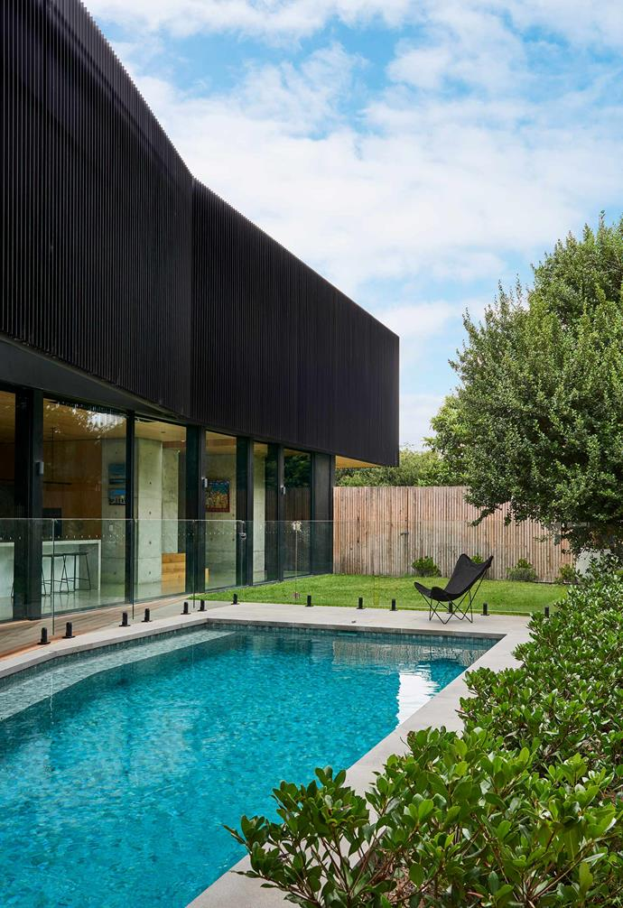 """**Garden** A low-maintenance outdoor space with an entertainment-focused vibe was a must-have for the family. Swimming pool, installed by [5Forty Pools](https://www.instagram.com/5fortypools/?hl=en