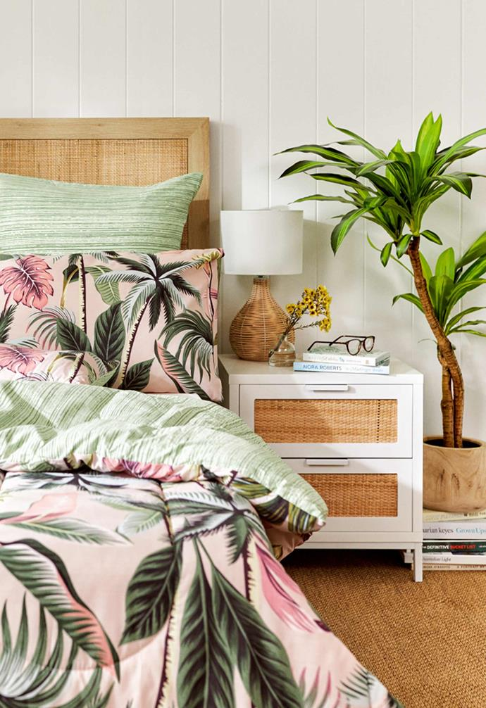 From a rattan table lamp to a coastal-chic bedside table, the spring collection is sure to elevate the style in your home.