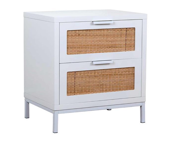 "Kodu Nadi bedside table, $69, [BIG W](https://www.bigw.com.au/product/kodu-nadi-bedside-table/p/89583/|target=""_blank"")."