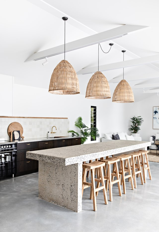 The open plan kitchen, dining and living area at The Pause definitely passes Simone's 'Boxing Day' test.