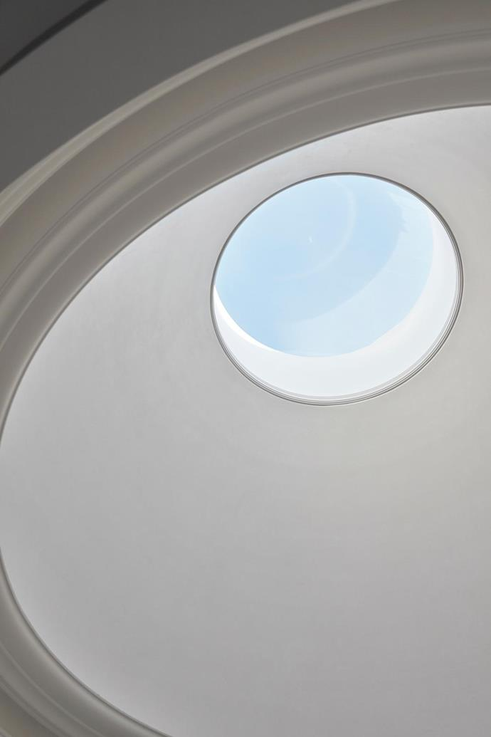 The oculus in the domed ceiling.
