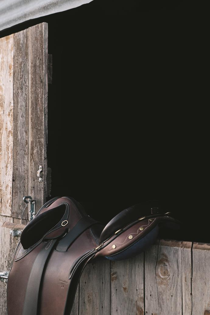 One of Bede's saddles.
