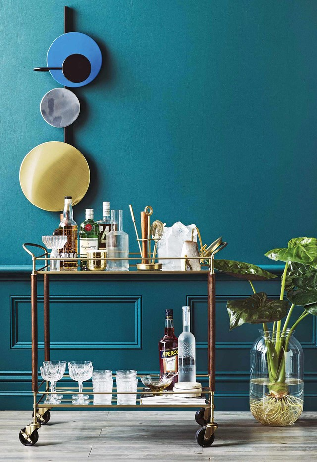 "**Happy hour at home**<br> You can still enjoy happy hour when you're holidaying at home. Set up a [bar or drinks trolley](https://www.homestolove.com.au/how-to-style-a-drinks-trolley-6980|target=""_blank"") at home and treat yourself to an afternoon cocktail. Stock up on your favourite spirits, wine and champagne and all the [bar cart essentials](https://www.homestolove.com.au/bar-cart-essentials-18600
