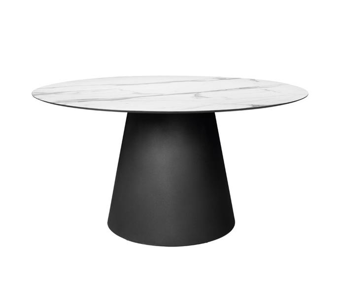 """'Cone II' ONE II dining table round 140, POA, [Janus et Cie](https://www.janusetcie.com/products/cone-ii-dining-table-round-140-4/