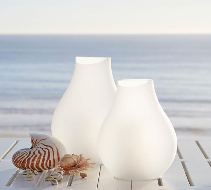"""Light Up Frosted Glass Lantern, from $79 to $99, [Pottery Barn](https://www.potterybarn.com.au/light-up-frosted-glass-lantern