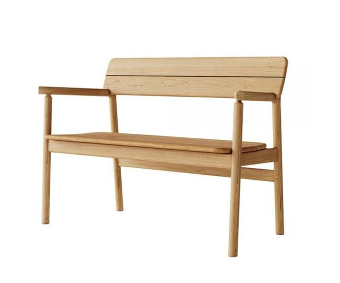 "'Tanso' outdoor bench, POA, [Spence & Lyda](https://www.spenceandlyda.com.au/tanso-outdoor-bench-case-furniture.html|target=""_blank""