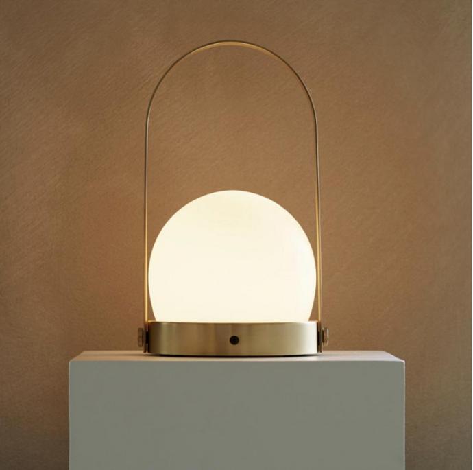 "MENU Carrie Lamp Brushed Brass (Portable + Rechargeable), $499, [Design Stuff](https://www.designstuff.com.au/menu-carrie-lamp-brushed-brass-portable-rechargeable/|target=""_blank""|rel=""nofollow"")"