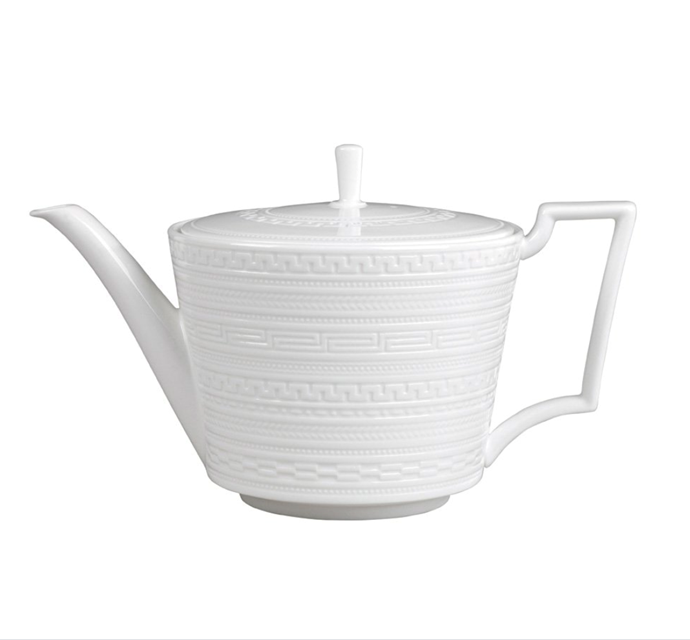 """A **teapot** fit for a tea party. Tea leaves strainers are for you alone.<br> <br> Intaglio Teapot, $139, [Wedgwood](https://www.wedgwood.com.au/intaglio-teapot-1ltr.html