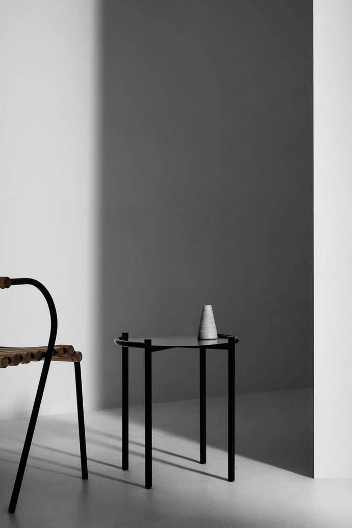 """**Side tables** beside your sofa.<br> <br> Single side table, $380, [Fomu](https://www.fomudesign.com/shop-1/fomu-single-side-table
