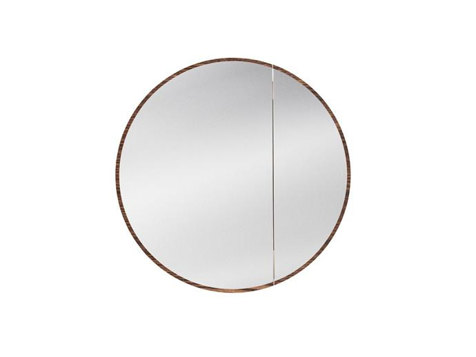 "Issy Halo 1000mm Round Mirror with Shaving Cabinet, $2,200, [Reece](https://www.reece.com.au/product/vanities-mirrors-c621/mirrors-cabinets-c623/mirrored-cabinets-c2582/issy-halo-1000mm-round-mirror-with-shaving-cabinet-2399882|target=""_blank""