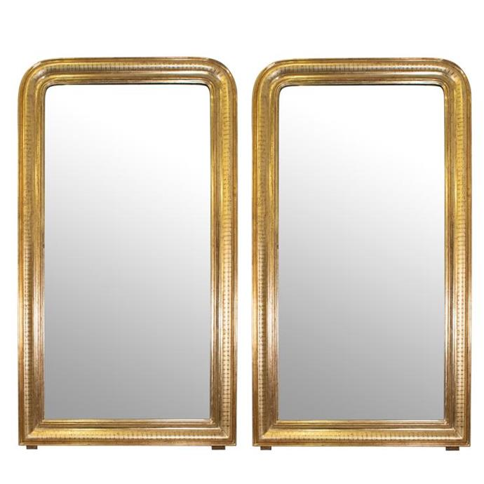 "Pair of Louis Phillippe Style Giltwood Mirrors, $4,200, [The Vault Sydney](https://thevaultsydney.com/products/pair-of-louis-phillippe-style-giltwood-mirrors|target=""_blank""