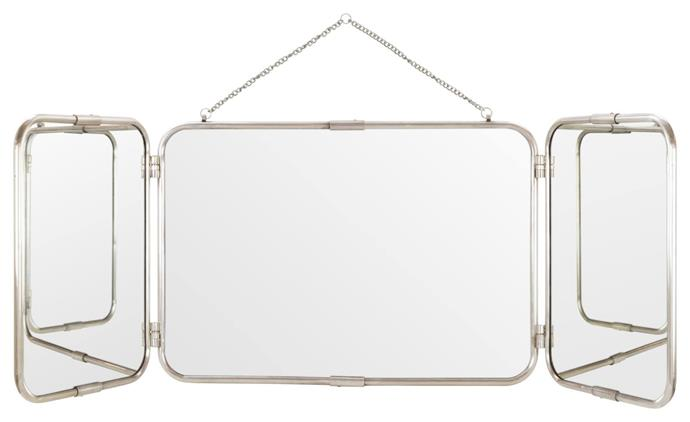 "Melford 3 Panel Mirror, Antique Silver, $609, [Schots](https://www.schots.com.au/melford-3-panel-mirror-antique-silver-kai76094.html|target=""_blank""
