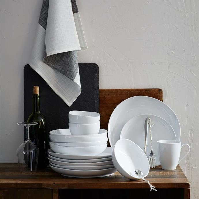 """A **matching [dinnerware set](https://www.homestolove.com.au/white-dinner-sets-13686