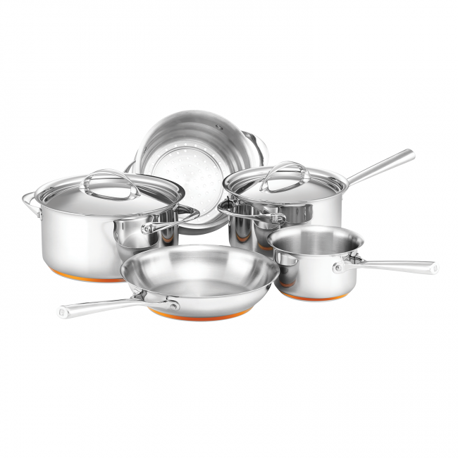 """Enough **pots and pans** to create your culinary masterpieces.<br> <br> Per Vita 5 Piece Cookware Set, 799.95, [Essteele](https://www.essteele.com.au/essteele-per-vita-5-piece-cookware-set.html?bvstate=pg:3/ct:r