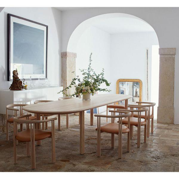 """A large enough **[dining table](https://www.homestolove.com.au/round-dining-room-table-design-ideas-19998