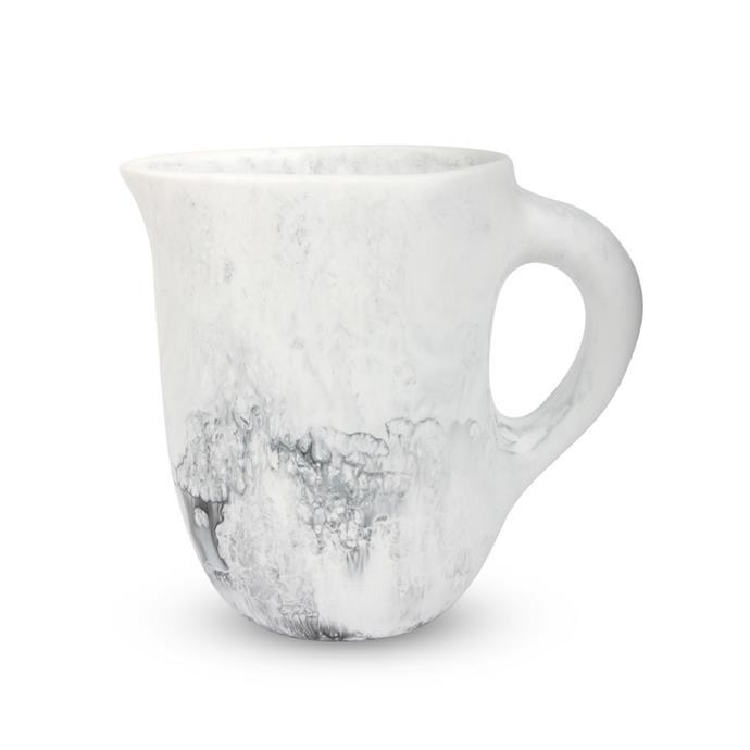 "Dinosaur Designs large rock jug in white marble, $255, [David Jones](https://www.davidjones.com/brand/dinosaur-designs/22481820/LARGE-ROCK-JUG-WHITE-MARBLE.html|target=""_blank""|rel=""nofollow"")"