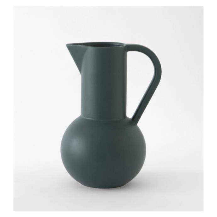 """Raawii 'STRØM' large water jug, $229, [Gingerfinch](https://gingerfinch.com.au/products/danish-water-jug?_pos=3&_sid=366eec493&_ss=r&variant=31775656837191