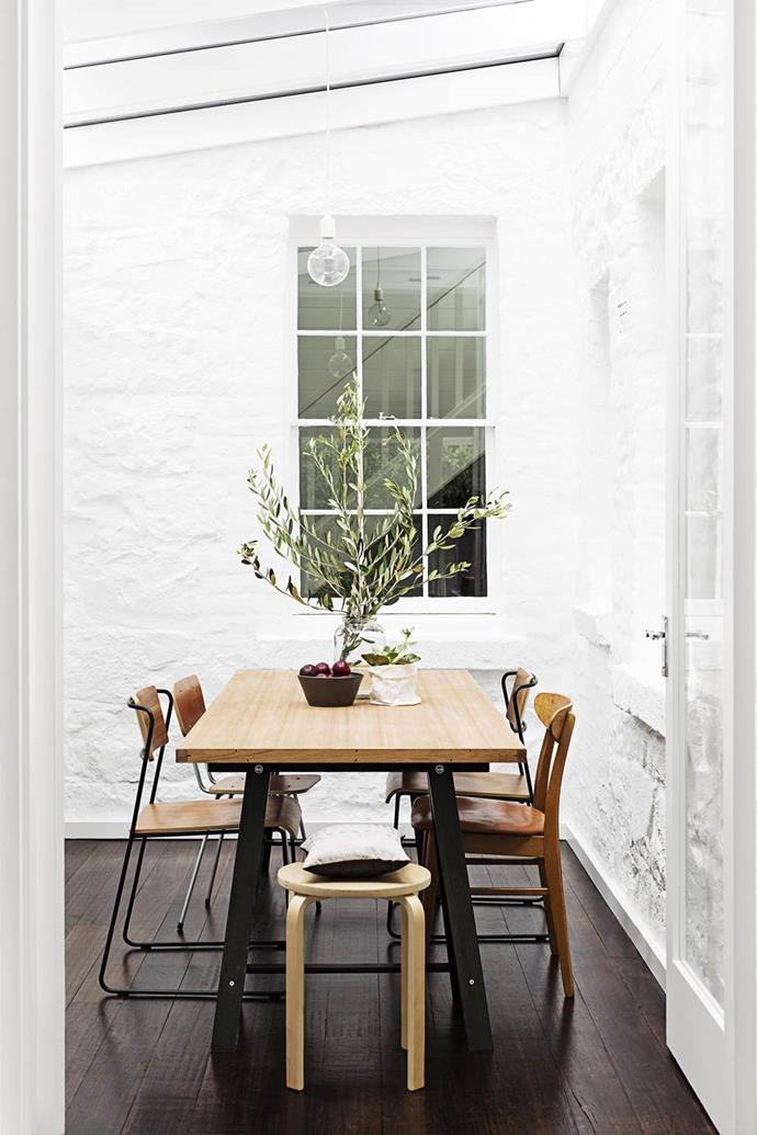 """**Paint it white.** White will make any space feel larger, so if you have a small area to work with, try freshening it up with a lick of paint to create an optical illusion. Plus a glass roof creates an al fresco, spacious vibe in the dining room of this [tranquil Melbourne terrace](https://www.homestolove.com.au/gallery-georgias-light-filled-melbourne-terrace-2242