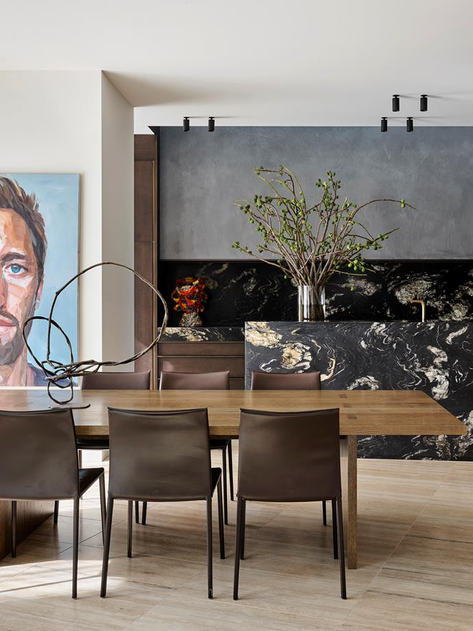 "David Flack used a palette of ""materials that age well and look better over time"" including black steel, grey render and natural stone in this [modernist mansion](https://www.homestolove.com.au/modernist-mansion-toorak-21774