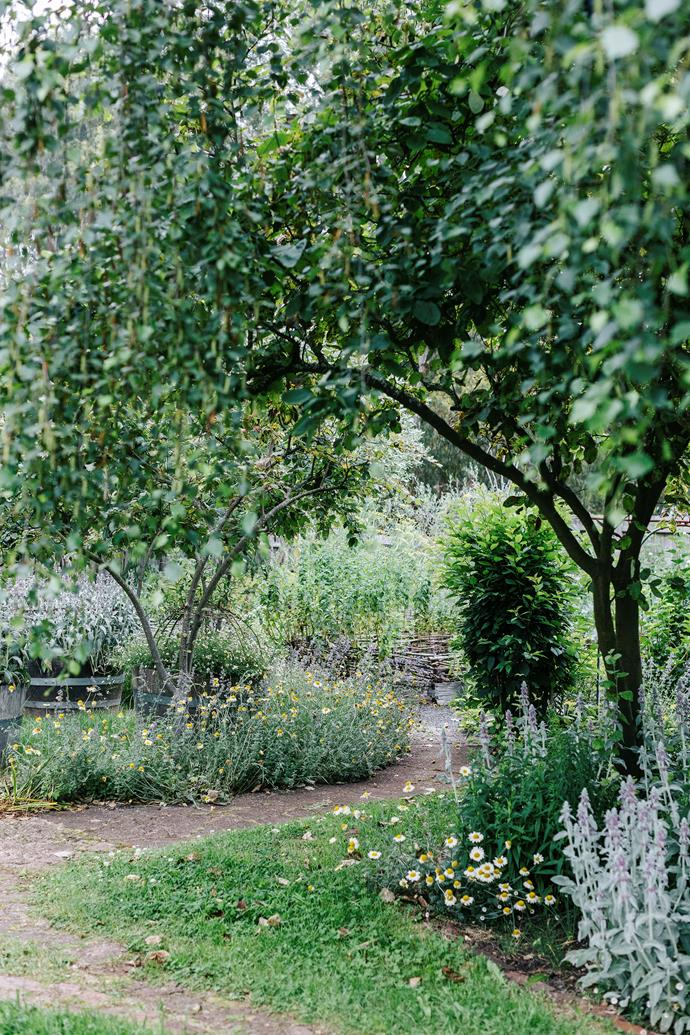 The picturesque entrance to the estate's popular harvest garden.